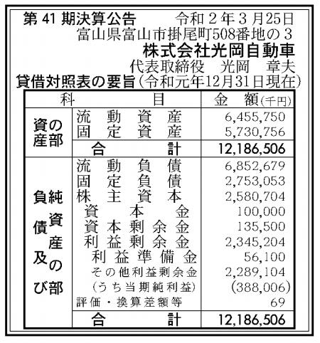 株式会社光岡自動車 売上高