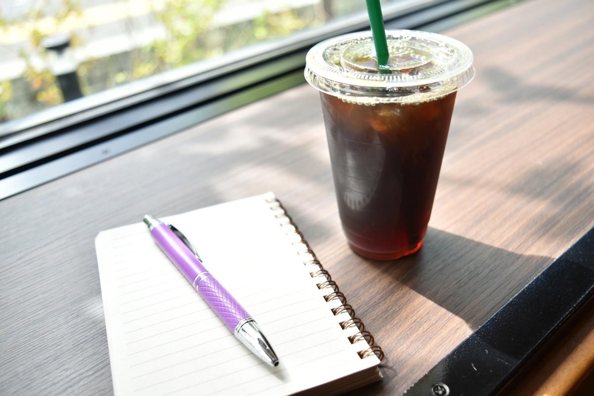 アイスコーヒーとメモ