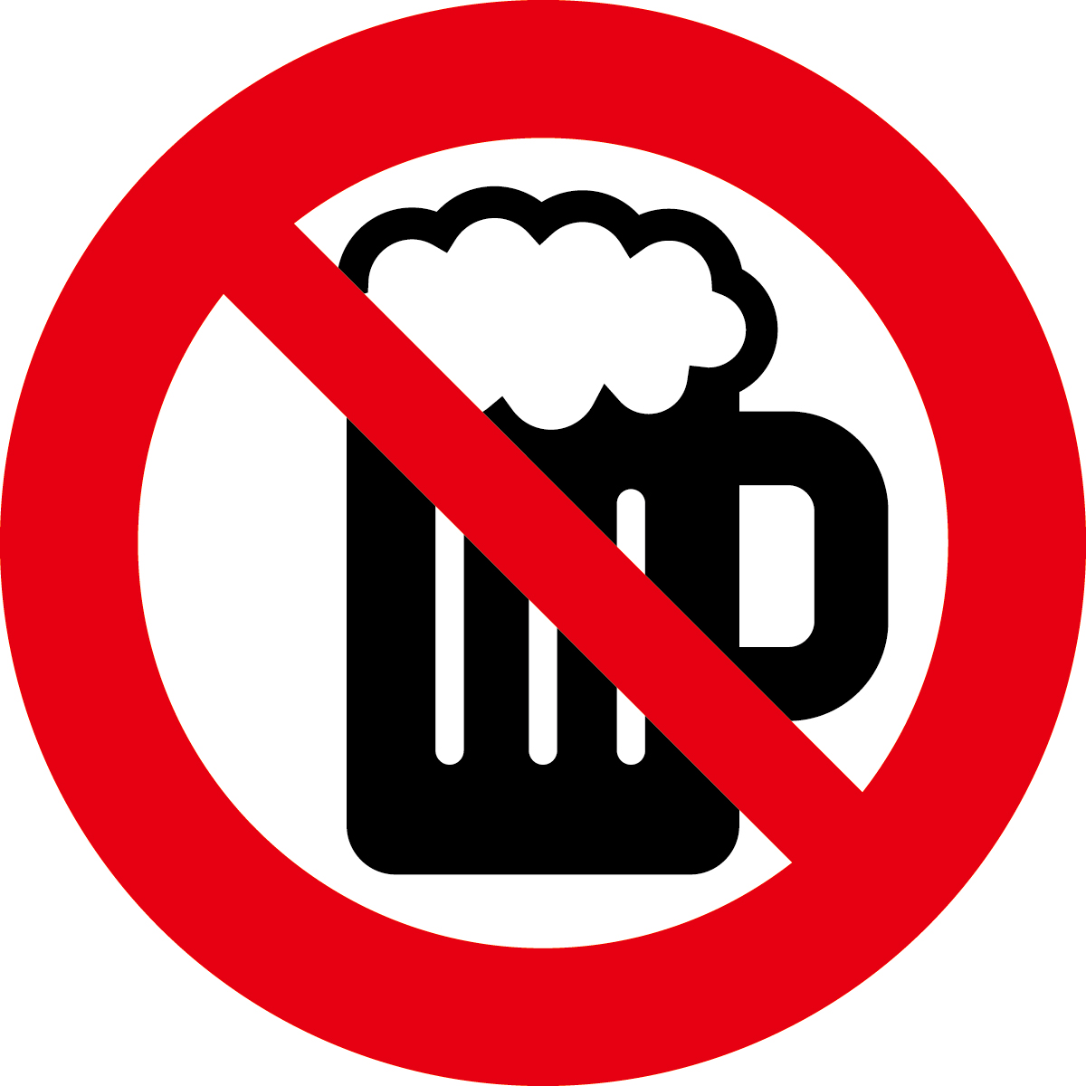 アルコール禁止イメージ