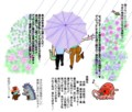 梅雨定番の絵は『相合傘だぁ〜』
