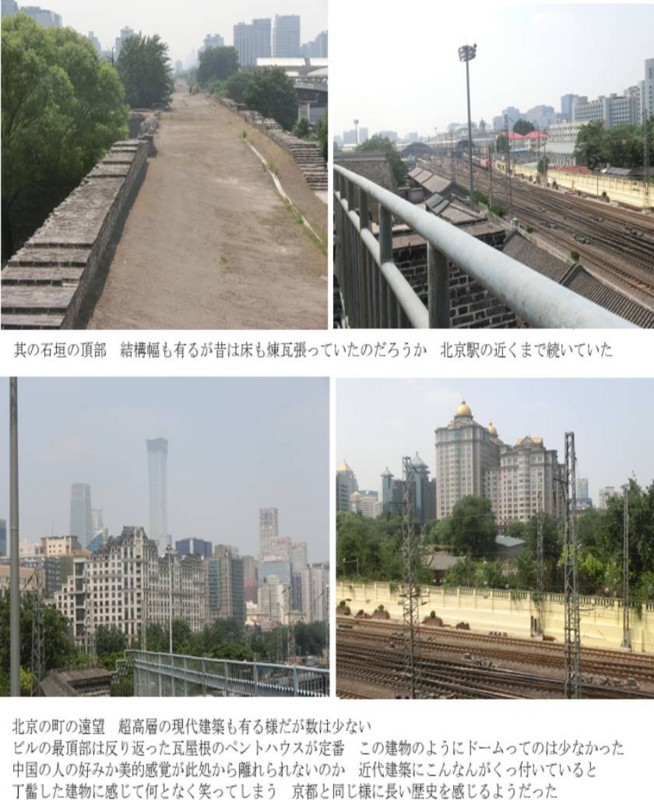 北京駅近くの街並み