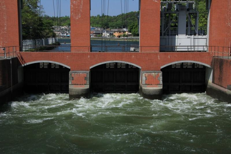 京都新聞写真コンテスト 水門の風景
