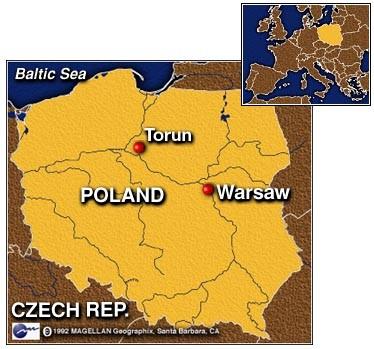 点描ポーランドの風景/トルン・...