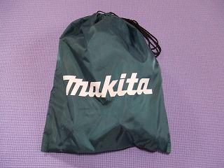 付属のmakitaロゴ入り「部品を入れる袋」