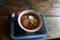 槍平小屋のおいしいラーメン。濃厚なスープが最高!