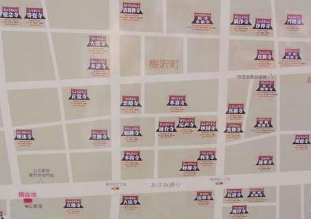 富山市梅沢町の寺院群