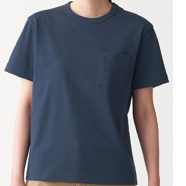 太番手天竺編み ポケット付き半袖Tシャツ
