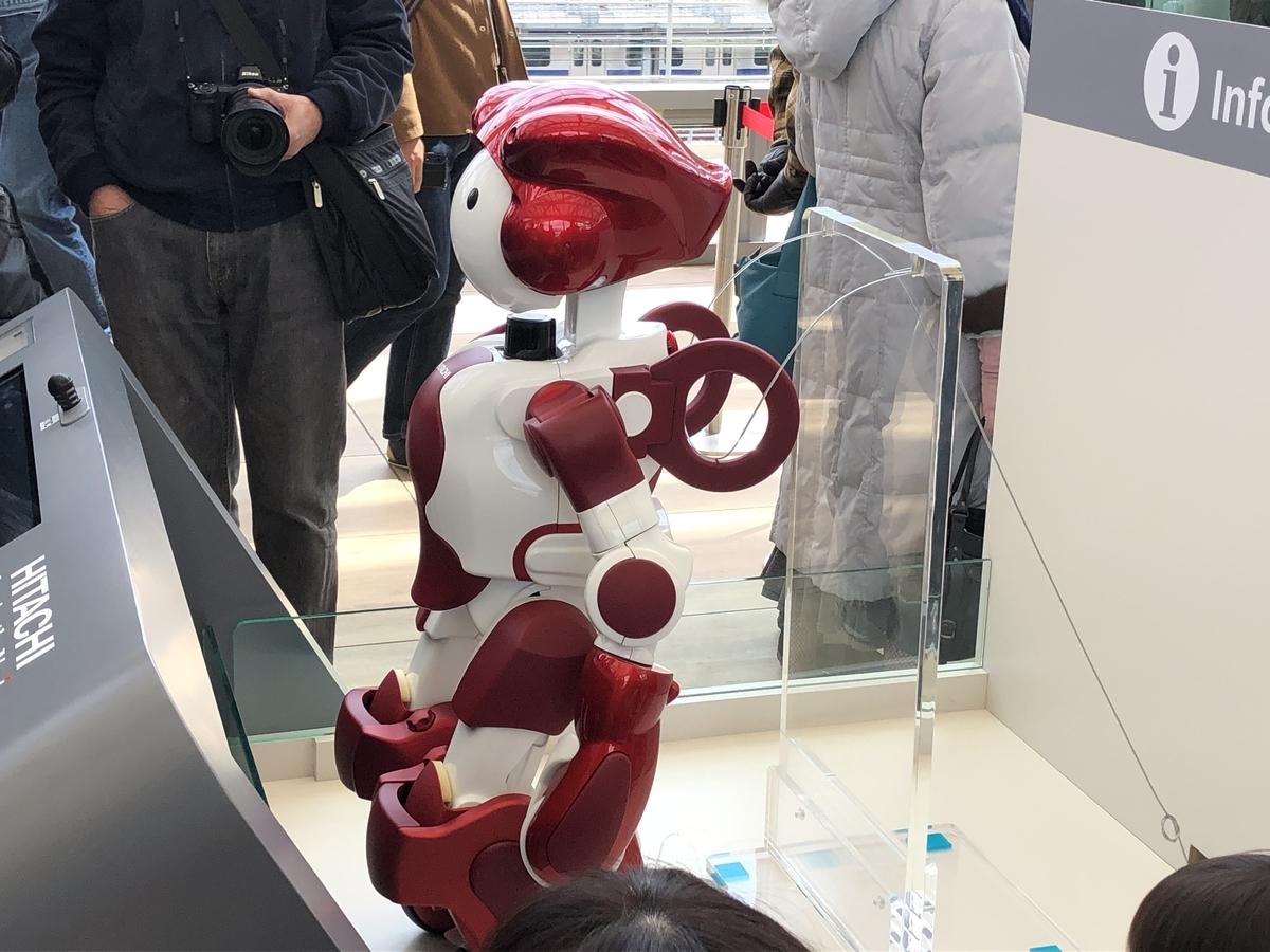 高輪ゲートウェイ駅のロボット