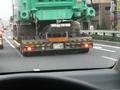 道幅いっぱいのトラックwすげぇwでけぇwww