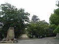 聳え立つ岡山城