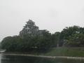 後楽園側から岡山城を見ながらのお昼です。