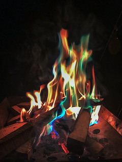 マジックファイアの焚き火