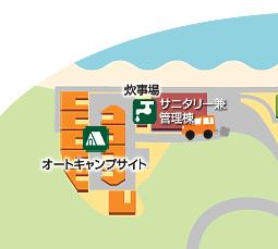 キャンプ場サイトマップ