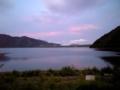 [ウインドサーフィン] 本栖湖の夕焼け