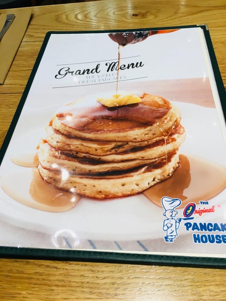 看板メニューのパンケーキ(オリジナルパンケーキハウス アミュプラザおおいた店)