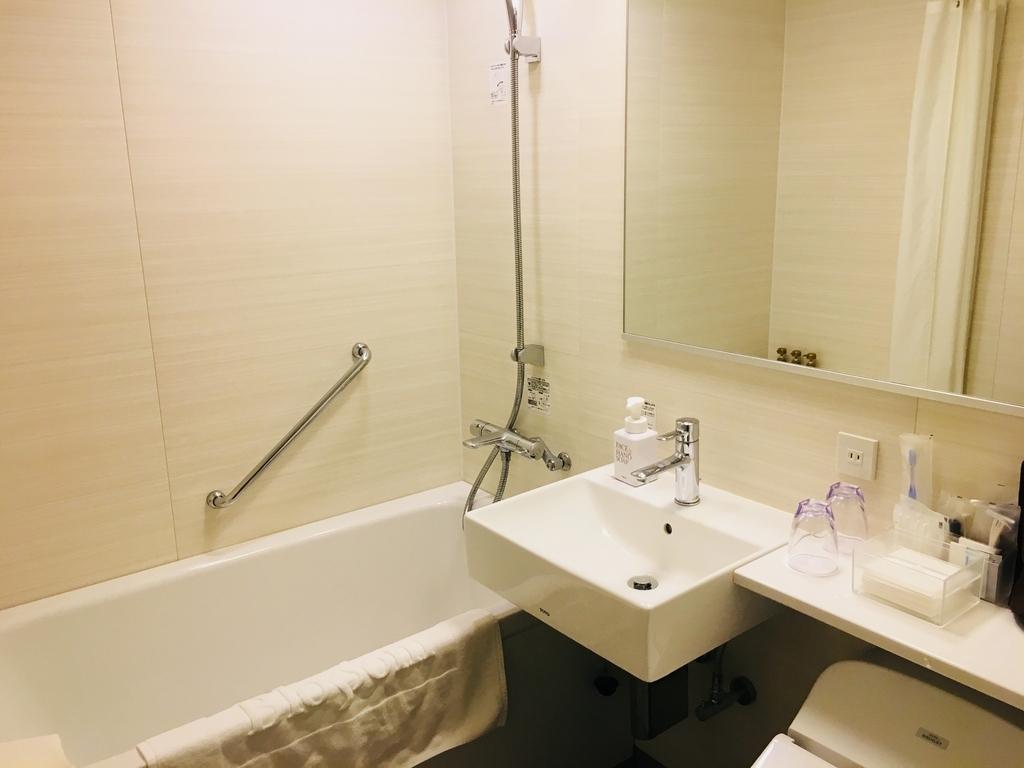快適なバス、トイレ シャンプー、リンス、ボディソープがあるJR九州ブラッサム大分