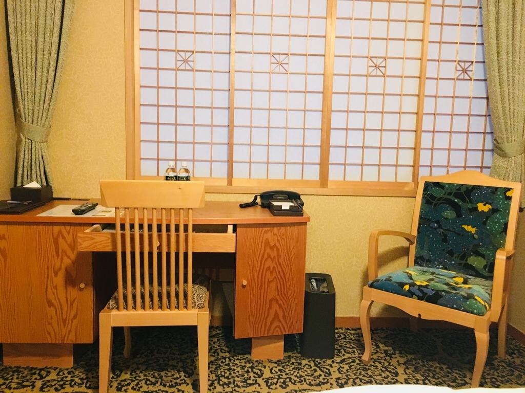 JR九州ブラッサム大分の快適なデスクと部屋の様子