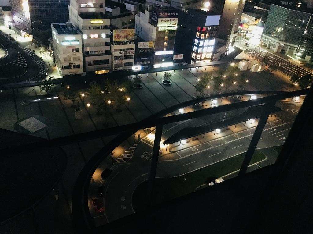 JR九州ブラッサム大分から見た駅前の夜景