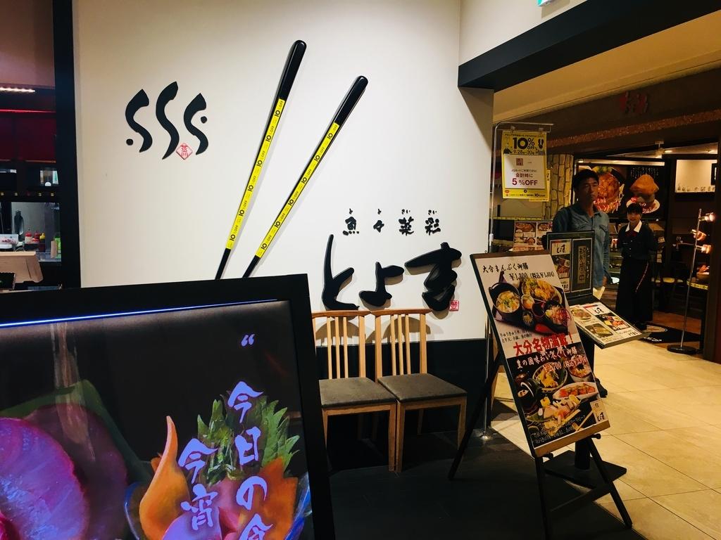 アミュシティダイニングにある魚々菜彩とよ吉の看板の写真