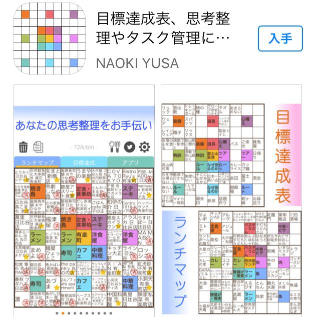 iPhoneの目標設定マンダチャート(無料)