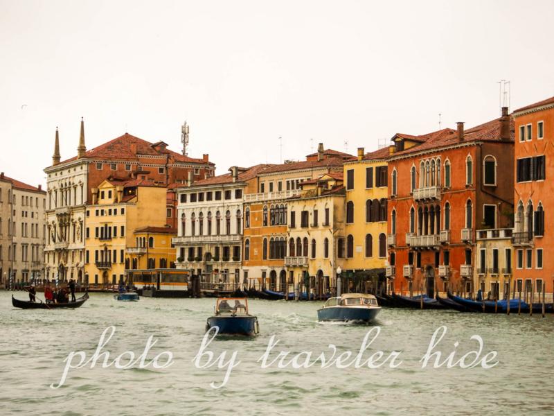 ヴェネツィアのカナル・グランデの風景