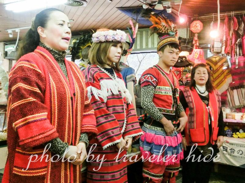 酋長文化村の土産物屋のおばさん