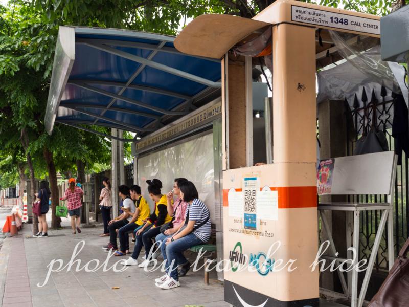 ドンムアン空港行きのエアポートバス乗場