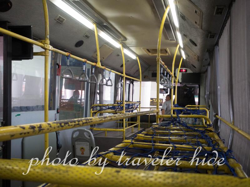 ドンムアン空港のシャトルバスの車内