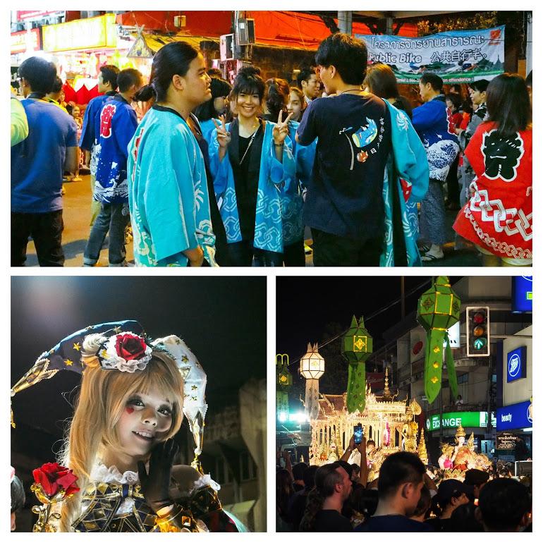 チェンマイのロイクラトンのパレード