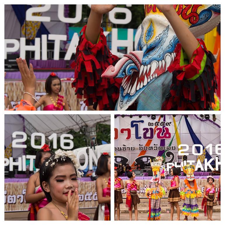ピーターコーン祭り(Phi Ta Khon Festival)のパレード終了後のメインステージの様子