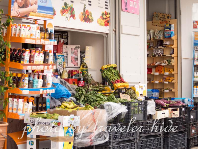 イドラ島のスーパーマーケット