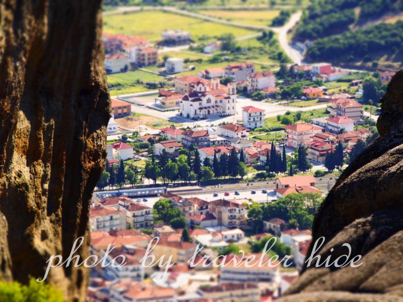 メテオラのアギオス・ステファノス修道院近くからの風景
