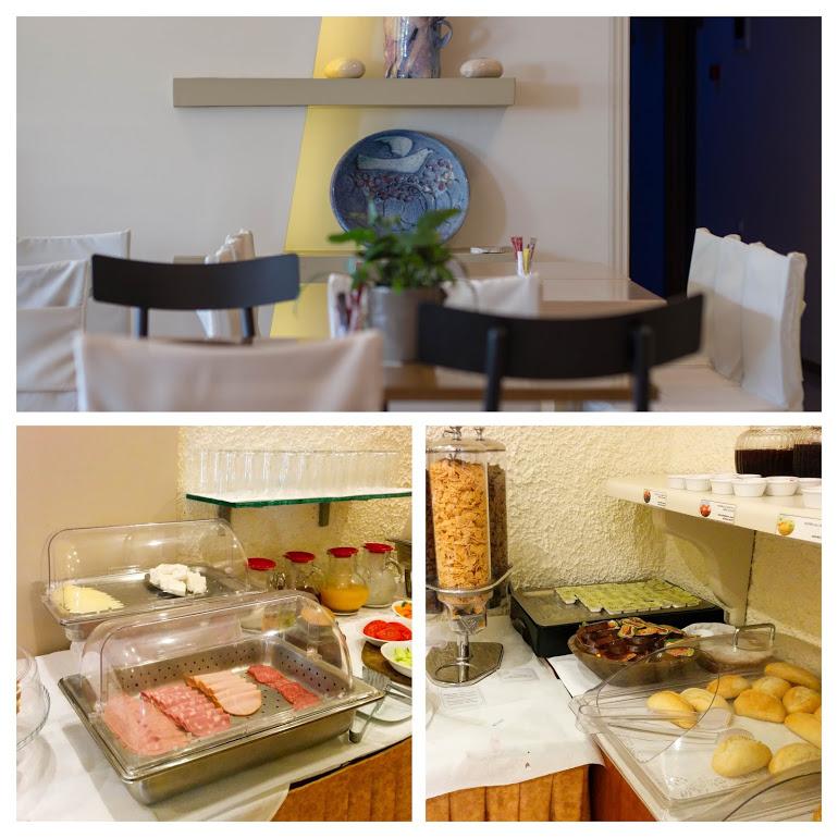 デルフィにあるニディモスホテルの朝食