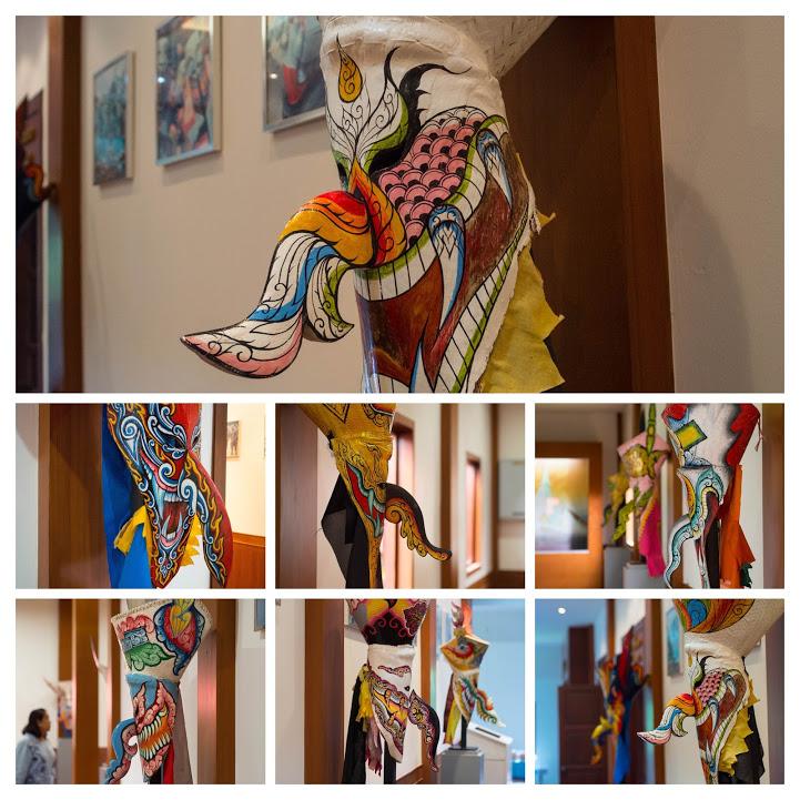 ダーンサーイ郷土博物館に展示されているピーターコーンの仮面