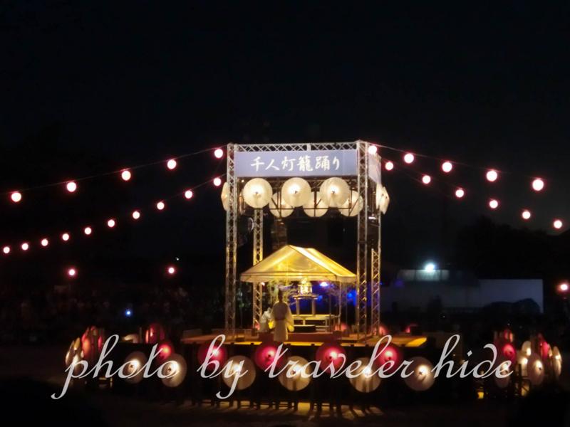 千人灯籠踊りが行われる前の行われる前の儀式