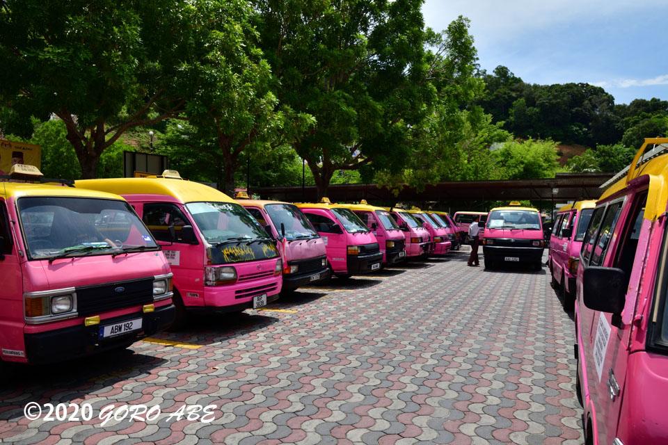 パンコール島のタクシー