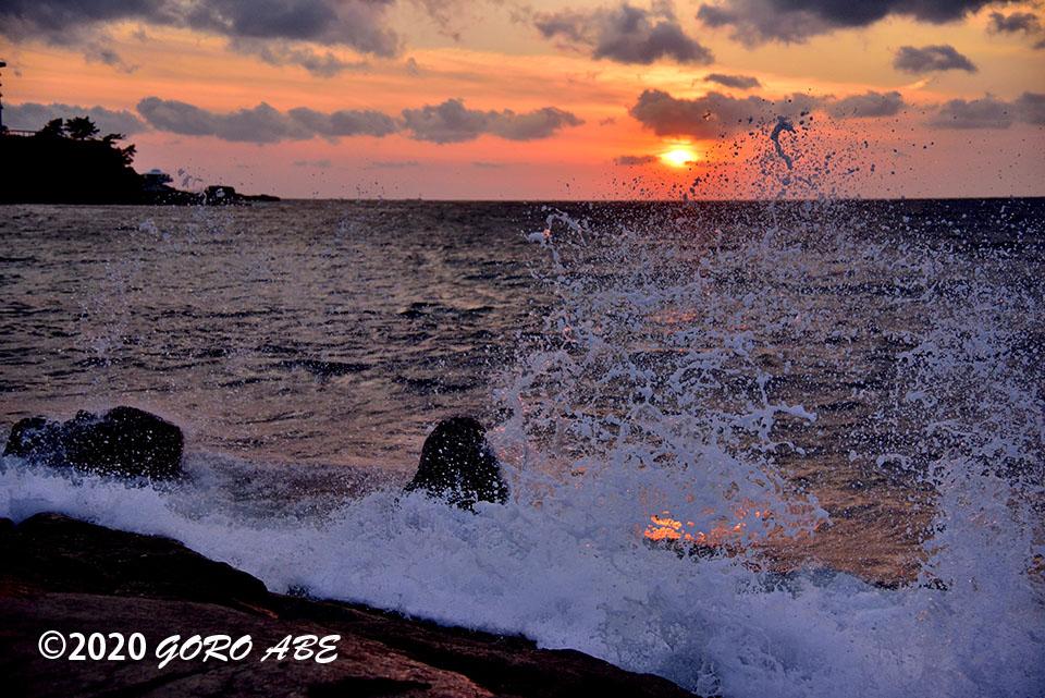 白良浜の夕景