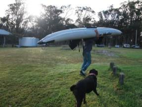 カヌーを一人で運べてしまう超人Tatsu