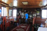ハロン湾クルージング船の中