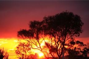 スタンソープの不思議な夕日と雲