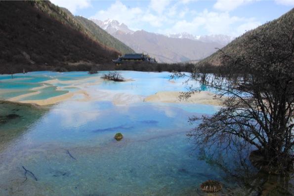 五彩池と黄龍寺