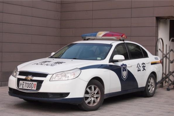 中国のパトカー