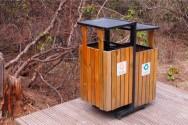 黄龍風景区のゴミ箱