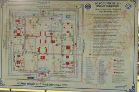 フエ王宮の地図