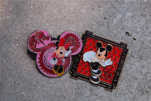 香港ディズニーランドのピンバッヂ