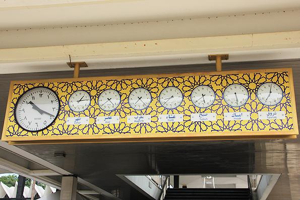 マレーシア国立モスク・マスジッドネガラの時計