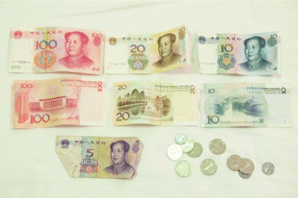 中国のお札とコイン