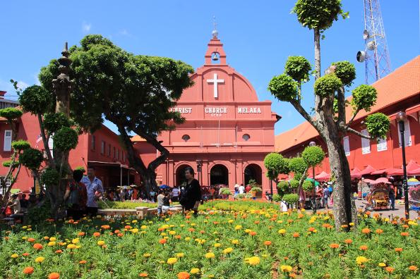 マラッカ(Melaka)オランダ広場Red Square(Dutch Square)