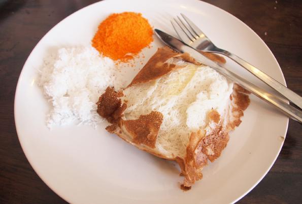 インド料理の朝食アッパム?