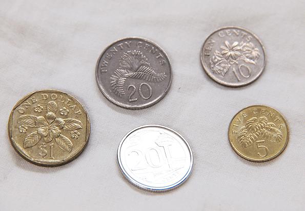 シンガポールの新硬貨・旧硬貨